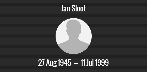 Jan Sloot Death Anniversary - 11 July 1999
