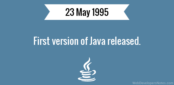 First version of Java released