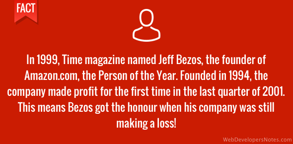 Jeff Bezos - Time magazine 1999 Person of the Year