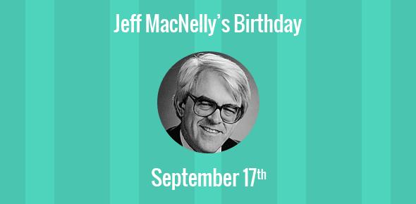 Jeff MacNelly Birthday - 17 September 1947