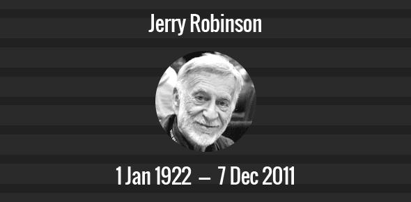 Jerry Robinson Death Anniversary - 7 December 2011