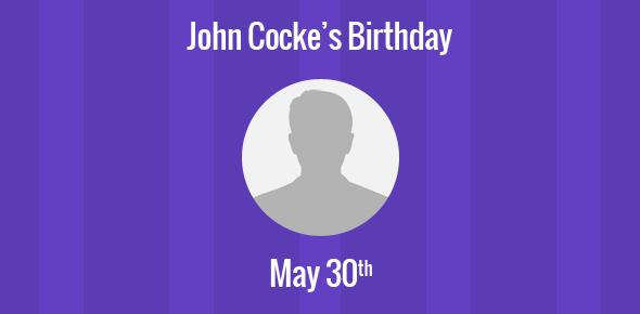 John Cocke Birthday - 30 May 1925