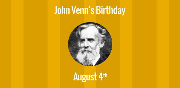 John Venn Birthday - 4 August 1834