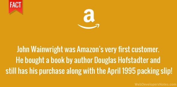 Amazon's first customer - John Wainwright