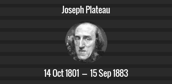 Joseph Plateau Death Anniversary - 15 September 1883