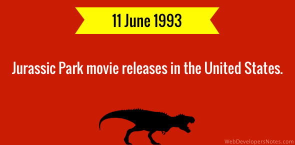 Jurassic Park movie releases in the United States.