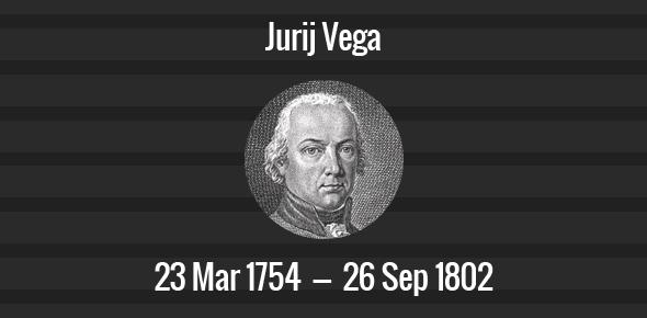 Jurij Vega Death Anniversary - 26 September 1802