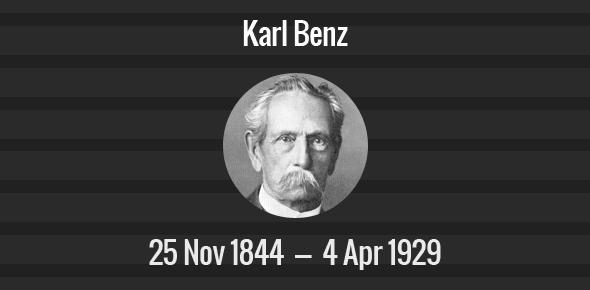 Karl Benz: Karl Benz Death Anniversary
