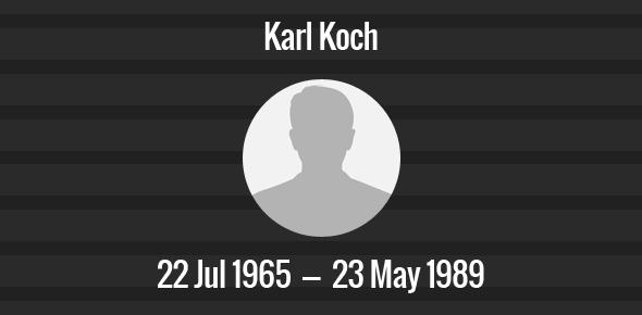 Karl Koch Death Anniversary - 23 May 1989
