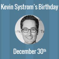Kevin Systrom Birthday - 30 December 1983