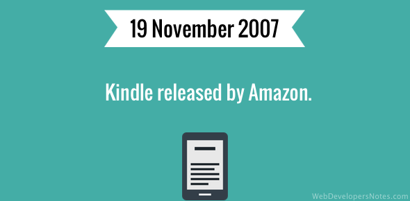 Kindle released by Amazon