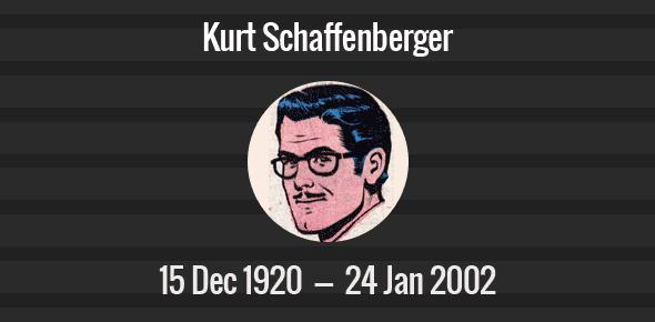 Kurt Schaffenberger Death Anniversary - 24 January 2002