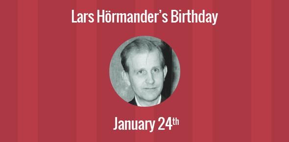 Lars Hörmander Birthday - 24 January 1931
