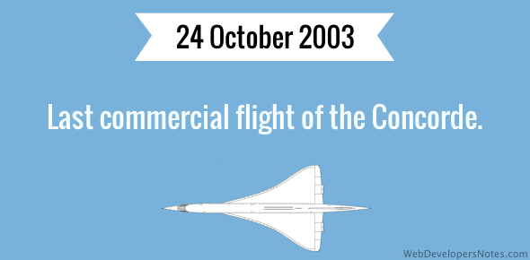 Last commercial flight of the Concorde
