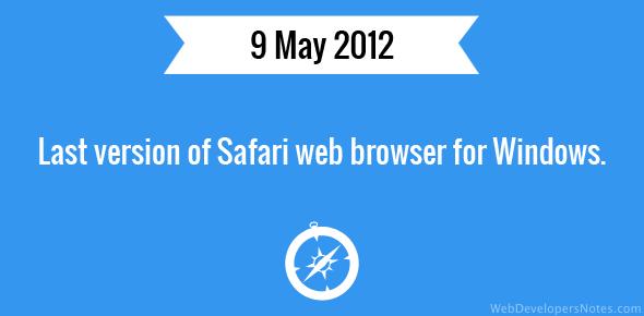 Last version of Safari web browser for Windows