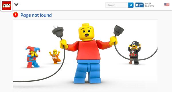 Lego error page