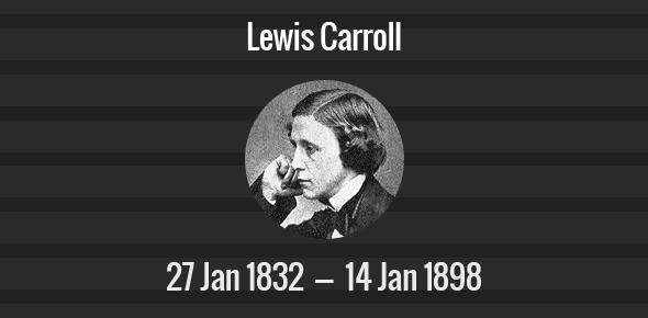 Lewis Carroll Death Anniversary - 14 January 1898