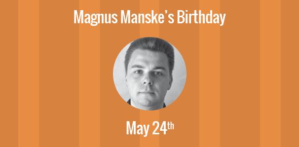 Magnus Manske Birthday - 24 May 1974