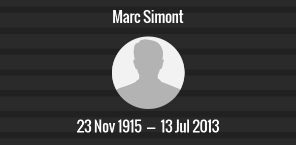Marc Simont Death Anniversary - 13 July 2013