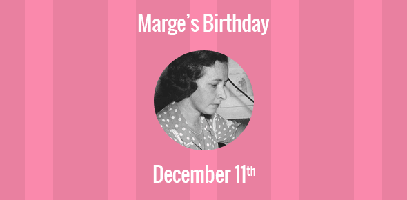 Marge Birthday - 11 December 1904