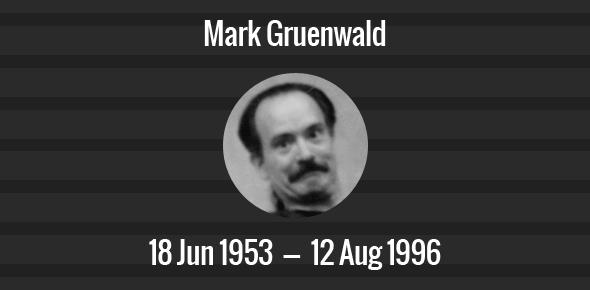 Mark Gruenwald Death Anniversary - 12 August 1996