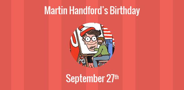 Martin Handford Birthday - 27 September 1956