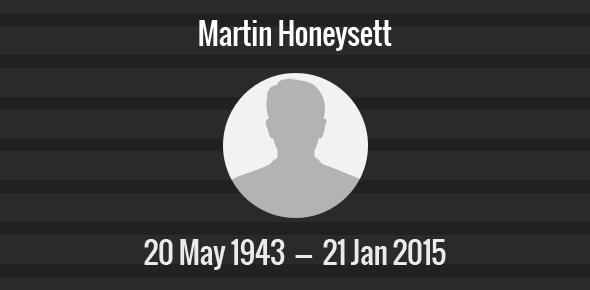 Martin Honeysett Death Anniversary - 21 January 2015