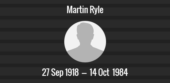 Martin Ryle Death Anniversary - 14 October 1984