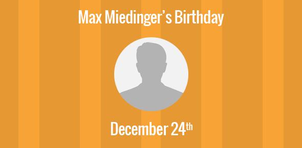 Max Miedinger Birthday - 24 December 1910