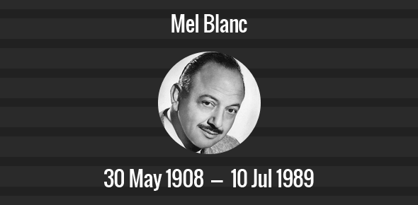 Image result for mel blanc died