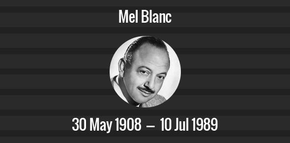 Image result for mel blanc died