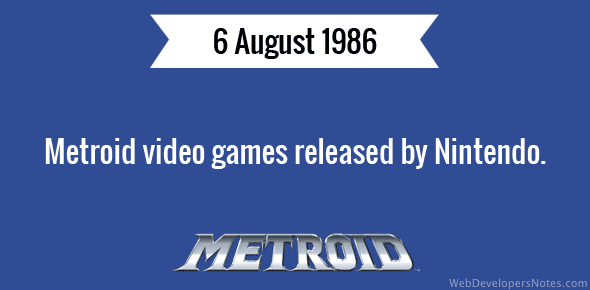 Metroid video games released by Nintendo