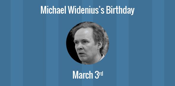 Michael Widenius Birthday - 3 March 1962