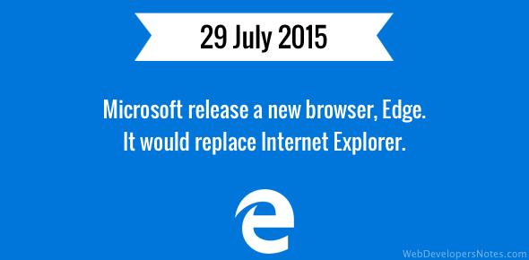 Microsoft Edge web browser released