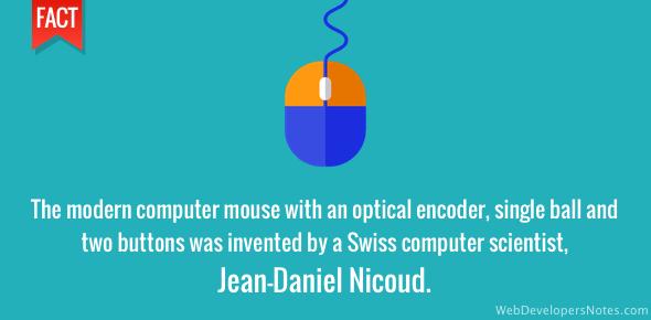 Jean-Daniel Nicoud created the modern computer mouse