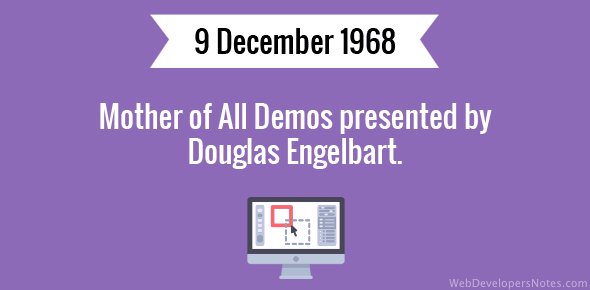 Mother of All Demos presented by Douglas Engelbart.