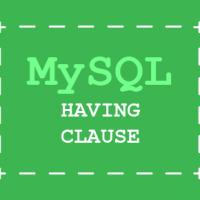 MySQL development tutorial - HAVING clause