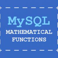 MySQL programming – MySQL mathematical Functions