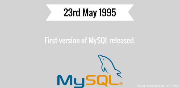 First version of MySQL released