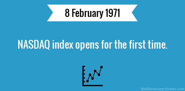 NASDAQ index opens for the first time.