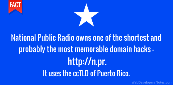 National Public Radio domain hack uses Puerto Rico ccTLD