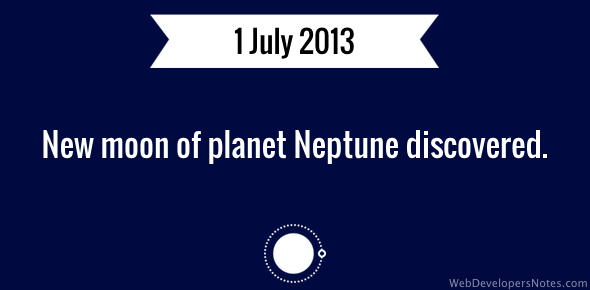 New moon of Neptune discovered