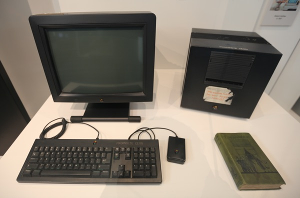 The NeXT computers used by Sir Tim Berners-Lee to create the World Wide Web now at display at CERN