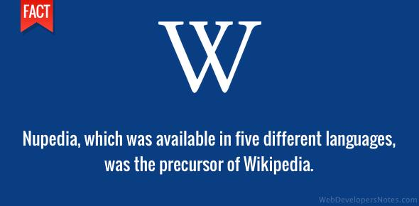 Nupedia was Wikipedia precursor