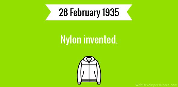 Who Invented Nylon 82
