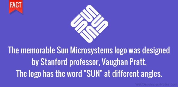 Original Sun Microsystems logo was designed by Stanford professor