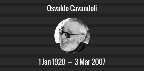 Osvaldo Cavandoli Death Anniversary - 3 March 2007