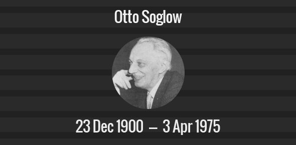 Otto Soglow Death Anniversary - 3 April 1975