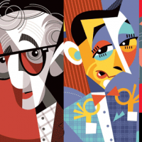 Pablo Lobato's illustration of popular celebrities