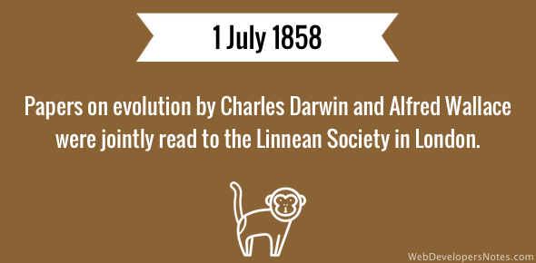 an analysis of charles darwins theory of evolution Tuesday marks the 150th anniversary of the formal presentation of the theory of  evolution charles darwin is credited with developing the.